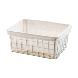 Compare Price Canvas Japanese Style With Wrought Iron Storage Basket Oem On China