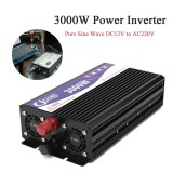 Price Car 3000W Power Inverter Led Display 12V Dc To 220V Ac Pure Sine Wave Converter Intl Not Specified New