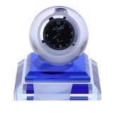 Car Glass Ball Shape Fragrant Clock Led Light Dock Stand Decoration Blue Intl Coupon