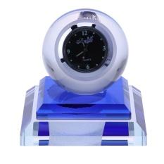 Price Car Glass Ball Shape Fragrant Clock Led Light Dock Stand Decoration Blue Intl Oem Online
