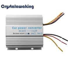 Car Truck 24v To 12v Dc To Dc Inverter Transformer Step Down Converter(silver)-15a - Intl By Crystalawaking.