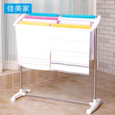 Cheaper Jia Mei Floor Stainless Steel Bathroom Towel Rack