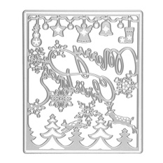 Carbon Steel Merry Christmas Trees Bells Embossing Cutting Dies Stencils Templates Mould For Diy Scrapbooking Album Paper Card - Intl By Vococal Shop.