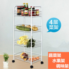 Retail Price Carbon Steel White Paint Vegetable And Fruit Shelf Rack