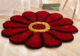 New Carpet 3D Stereo South Korea Silk Sunflower Pad Simple Bedroom Living Room Bedside Round Mat Pad Computer Chair Pad Door Pad Diameter 9 M Sunflower Red Intl