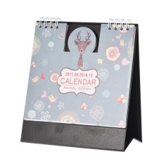 Cartoon Animals Table Calendar Mini Desk Planner With Stand 2017.9~2018.12 Office School Supplies - Intl By Tomtop.