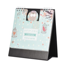 Cartoon Animals Table Calendar Mini Desk Planner With Stand 2017.9~2018.12 Office School Supplies - Intl By Koko Shopping Mall.