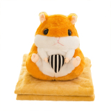 Promo Cartoon Hamster Doll Blanket Air Conditioning Was Car Cushion Plush Toy Pillow Quilt Blanket Dual