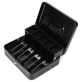 Best Price Cash Box Money Drawer Key Locking Safe Lock Gray 5 Compartment Cantilever Tray Intl