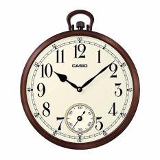 Discounted Casio Brown Resin Wall Clock Iq66 5D