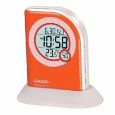Coupon Casio Stylish Table Top Digital Alarm Clock Orange Pq 75 4Df