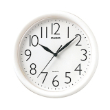 Casio Wall Clock Iq01 White Ideal For Bedroom And Living Room Compare Prices