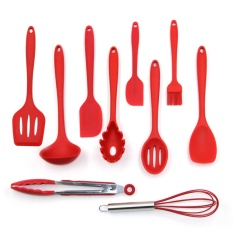 Catwalk 10 Pcs Kitchen Utensil Set Silicone Spoon Baking Cooking Baking Tools Non Stick Intl Shop
