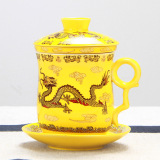 Review Ceramic Chinese Dragon Tea Cup With Lid Boss Cup Oem