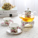 Ceramic Glass Fruit Flower Tea Set Tea Tea Suit Candle Heating Base Afternoon Tea Coupon Code