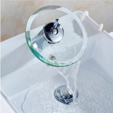 Price Comparisons Of Cheer Bathroom Kitchen Sink Round Glass Waterfall Faucet Brass Chrome Basin Faucet Intl