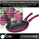 Best Offer Chez 2Pc Frypan Set In Nonstick Marble Coat Finish Boysenberry Purple