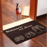 Review Chic Shoes Pattern Non Slip Door Floor Mat Kitchen Carpet Water Absorption Bathroom Rugs Porch Doormat Black 50X80Cm On Singapore