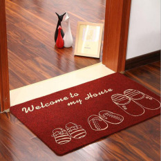 Compare Price Chic Shoes Pattern Non Slip Door Floor Mat Kitchen Carpet Water Absorption Bathroom Rugs Porch Doormat Red 50X80Cm On Singapore