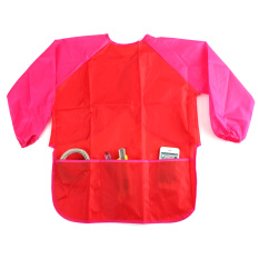 Sale Child Kids Painting Smock Apron Red