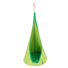 Child Pod Swing Chair Reading Nook Tent Indoor Outdoor Hanging Seat Hammock Kids Green