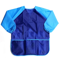 Children Babies Kids Long Sleeve Waterproof Eating Art Craft Painting Play Apron Smock (blue) By Stoneky.