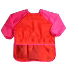 Children Babies Kids Long Sleeve Waterproof Eating Art Craft Painting Play Apron Smock (red) By Stoneky.