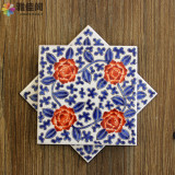Price Chinese Blue And White Porcelain Hand Painted Ceramic Coasters Oem Online