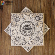 Retail Chinese Hand Painted Ceramic Pot Mat Table Flag Non Slip Pad