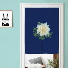 Chinese-style Peony Cotton Linen Door Curtain