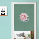 Buy Chinese Style Chinese Cotton Linen Peony Door Curtain Cheap On China
