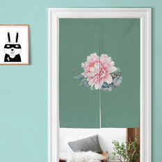 Sale Chinese Style Chinese Cotton Linen Peony Door Curtain Online China