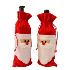 Chongqing Wine Bottle Covers Christmas Wine Bottle Gift Bag Holder Paillette Santa Claus Christmas Decor Pack Of 2, 11.8x4.7Inches - intl