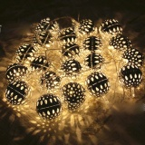 Promo Christmas Lmitation Metal Ball Lights Led String Light 2 5M 20 Ledbattery Models Christmas Light For Outdoor Patio Lawn Landscapegarden Home Wedding Holiday Intl