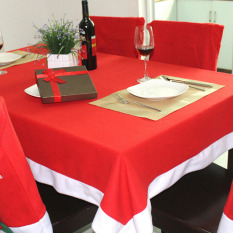 Christmas Red Table Cloth 184 * 128cm Household Festival Dinner Decor Tablecloth Party Decoration