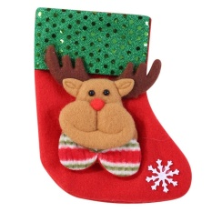 Christmas Stocking Christmas Gifts Candy Bags Socks Christmas Tree Ornament(multicolor) - Intl By Crystalawaking.