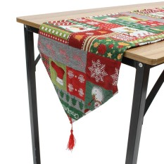 Christmas Table Runner Placemat Xmas Party Home Desk Decor Tablecloth Cover - intl