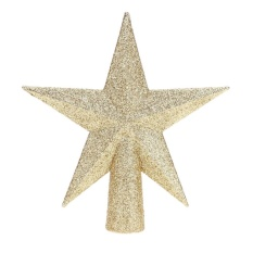 Christmas Tree Top Sparkle Stars Xmas Decor Accessories Ornament Topper(gold)-15cm - Intl By Crystalawaking.