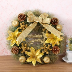 Sale Christmas Wreath 40Cm Flowers Pine Needles Christmas Decorations Garlands Shopping Malls Window Ornaments Intl China Cheap
