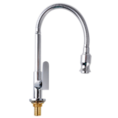 Chrome Brass Pull Out Spring Kitchen Faucet Swivel Spout Sink Cold Tap Intl On China