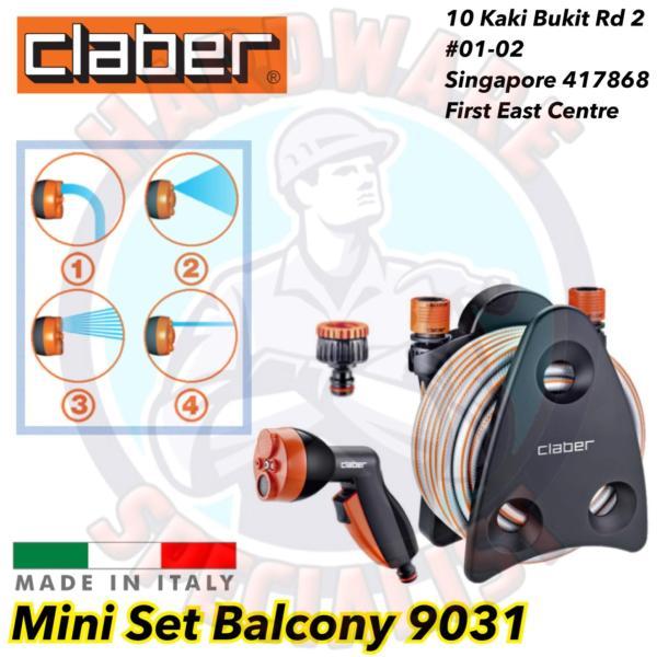 Claber 10m Mini Set Balcony Hose Reel 9031