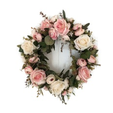 Classic Artificial Simulation Flowers Garland For Home Room Garden Lintel Decoration,Roses Peonies Color:Pink Peony