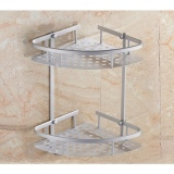 Classic Bathroom Racks V Shaped Corner Double Tier In Stock