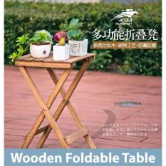 Buy Classic Wooden Folding Foldable Portable Table Original Brown On Singapore