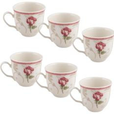Store Claytan Coffee Tea Cup Damask Flower 0426F Set Of 6 Claytan On Singapore