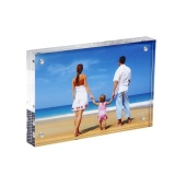 Cheaper Clear Acrylic Photo Frame 4X6 ,102 153Mm Gift Double Sided Magnetic Acrylic Block Picture Frames Frameless Desktop Postcard Display Intl
