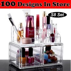 Price Clear Acrylic Transparent Make Up Makeup Lipstick Brush Brushes Cosmetic Jewellery Jewelry Organiser Organizer Drawer Storage Box Holder I Large I Stackable I Lodl S8 Online Singapore