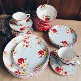 Discount Clearance As Is New Country 20 Pieces Dinnerware Set Multicolor