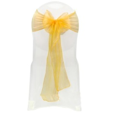 Clearance Sale Goodshopping2015 New 25PCS Wedding Organza 7.0 x 107.3 Organza Chair Cover Sashes Bow Sash Wedding Party Decoration - intl