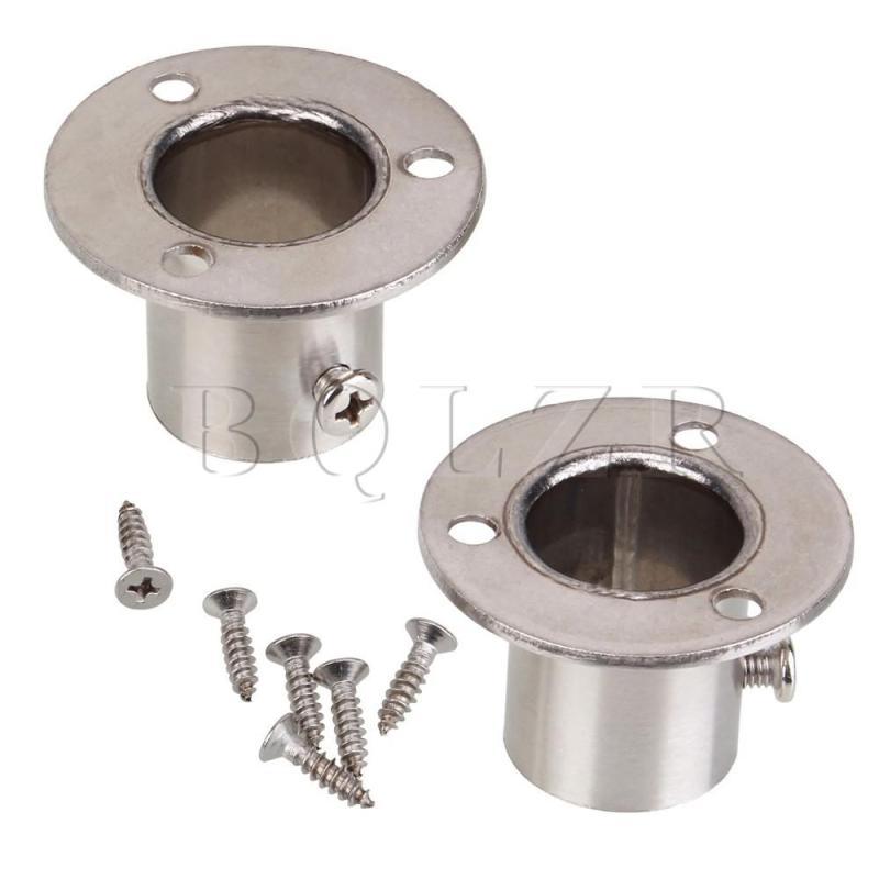 Closet Rod Flang Socket Set of 2 (Silver)